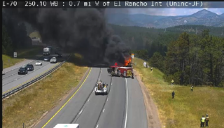 WB I-70 back open after large RV fire
