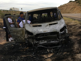 Basketball team loses everything in van fire