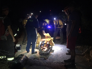 Teen survives falling 100 feet down mine shaft