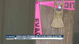 Spring Glade Fire now 371 acres, 87% contained