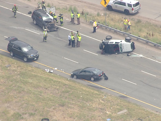 PHOTOS: EB I-70 crash at Morrison leaves 1 dead