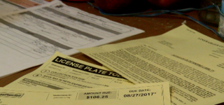 Man gets toll fines after stolen license plate