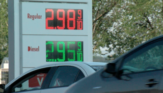 Increased gas prices due to Harvey