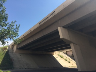 What is that black netting under this 470 bridge