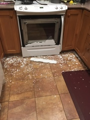 Woman's oven explodes while making dinner