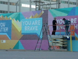 Downtown mural puts focus on mental health