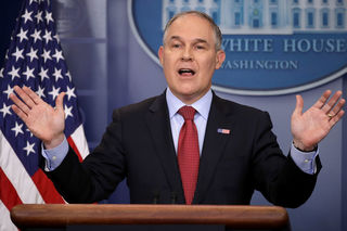 EPA chief says first-class flights for security