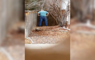 Neighbors fight over peeing on property