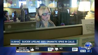 Suicide Prevention Hotline sees 40% call spike