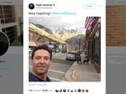Hugh Jackman is in Colorado, has pic to prove it