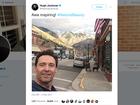 Hugh Jackman is in Colorado, has pic to prove it