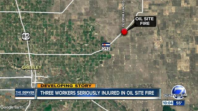 2 airlifted and another injured in oil site fire in Weld County