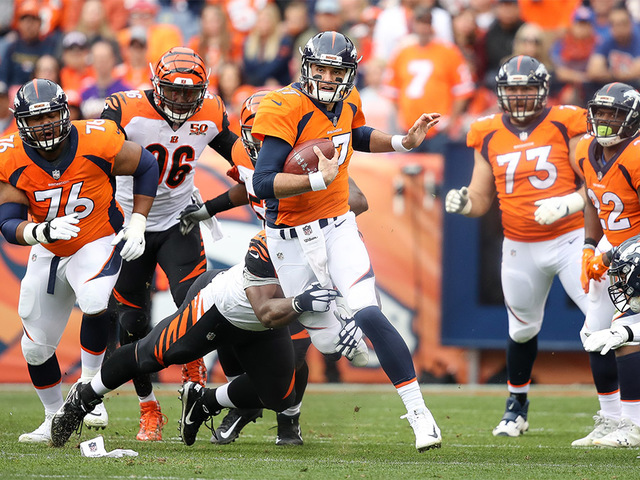 Woody paige broncos offseason needs aside from quarterback denver co november 19 quarterback brock osweiler 17 of the denver broncos rushes and is tackled by defensive tackle geno atkins 97 of the cincinnati voltagebd Image collections