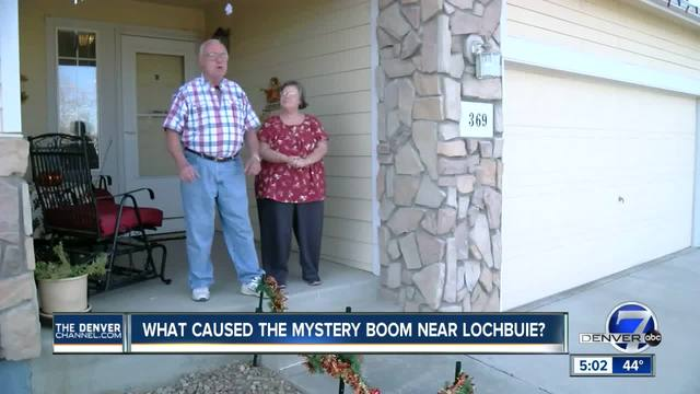 What caused the mystery boom near Lochbuie-