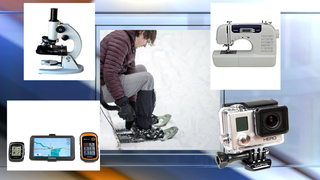Borrow snowshoes, sewing machine & gadgets free