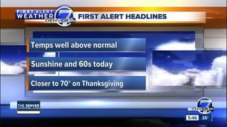 Warm weather settles in for the holiday