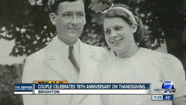 Couple celebrates 78th anniversary on Thanksgiving