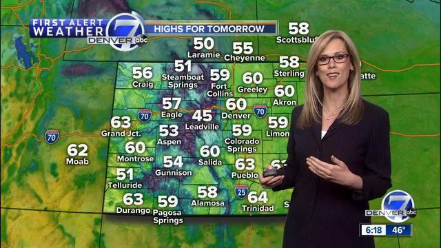 Warm and dry weather through Monday