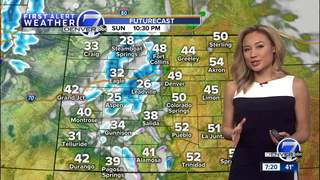 Warmer and breezy across the Denver area Sunday