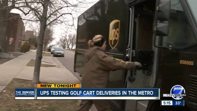 Golf carts over brown trucks- UPS turning to golf carts for holiday…