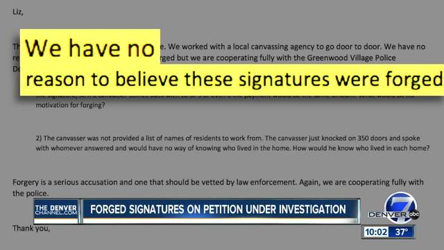 Company denies claims of forged signatures on petition but is…
