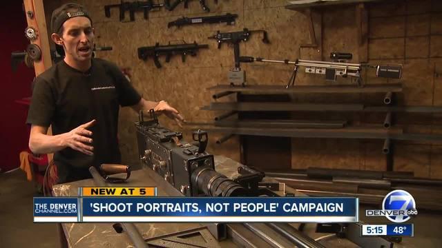 Denver artists turn camera parts into guns in evocative art installation