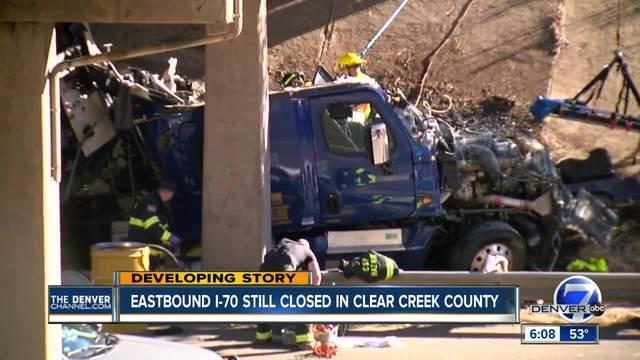 Overpass appears undamaged after fatal I-70 crash involving 18-wheeler-…