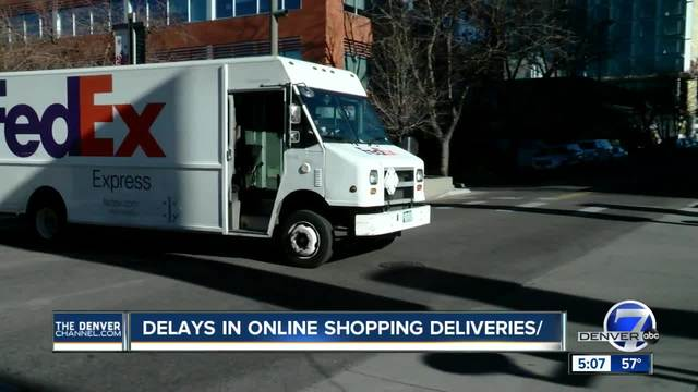 Online delivery delays concern some holiday shoppers