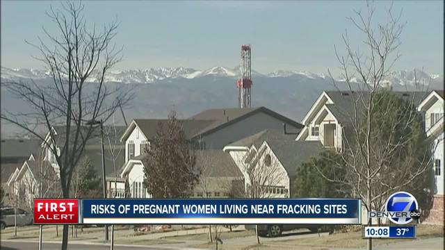 Risks for pregnant women living near fracking sites