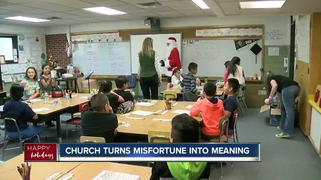 Santa surprises Commerce City kids with presents from local church