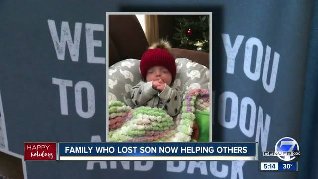 Colorado family who lost son to genetic disorder in October now helping…
