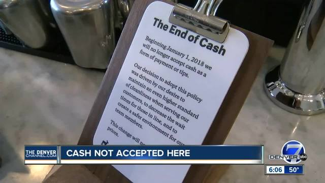 Boulder coffee shop is bidding farewell to cash starting next year