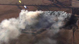 Grass fire burns north of Longmont