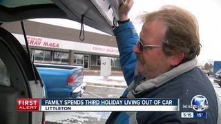 Family spends third holiday living out of car