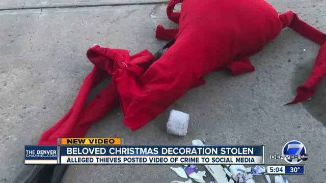 castle rock family searches for suspects that destroyed jack skellington decoration