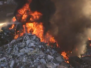 Raging fire put out at Denver recycling plant