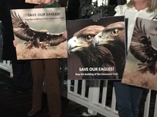 Residents say trail will threaten eagle habitat