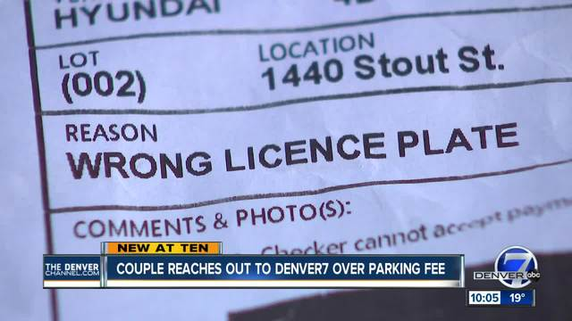 Couple gets -75 ticket after paying for parking in downtown Denver