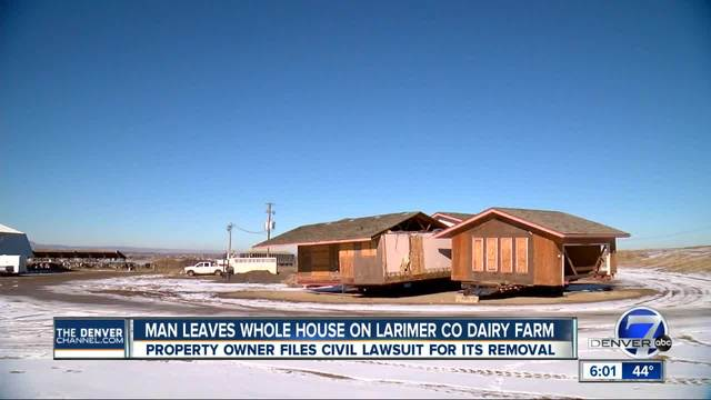 Man leaves whole house of Larimer County diary farm