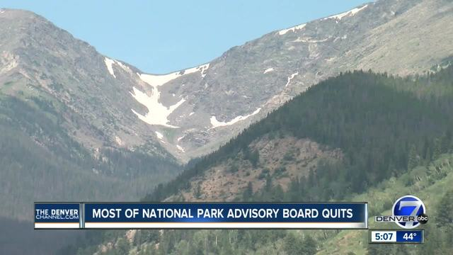 Nine Park Service advisory board members quit