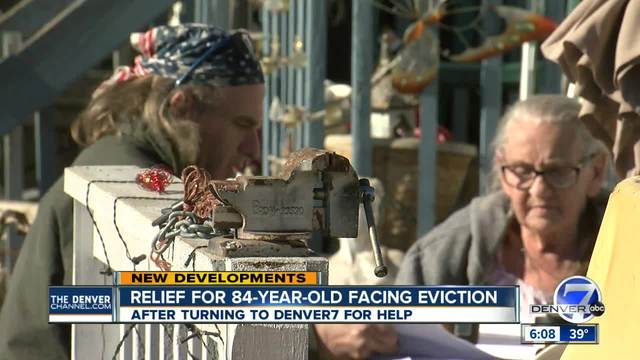 Elderly woman facing eviction gets more time to clean lot