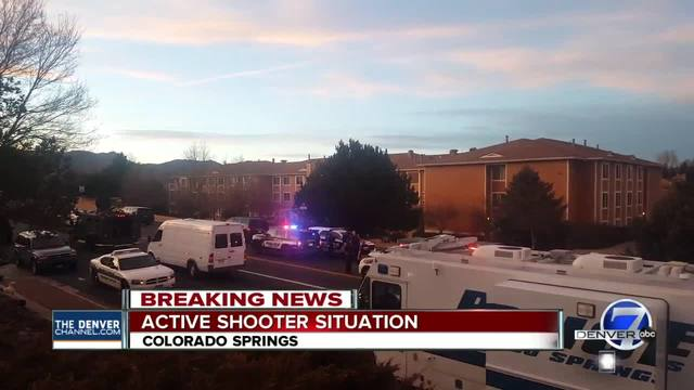 Colorado Springs Police respond to -active shooting- scene- no injuries reported