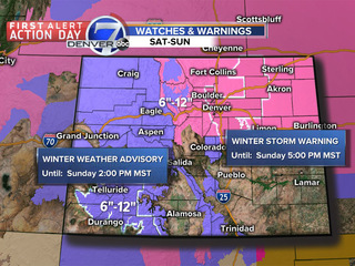 First Alert Action Day: Sunday snow in Denver