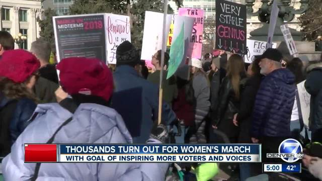 Women-s March on Denver attracts tens of thousands- with goal to inspire…