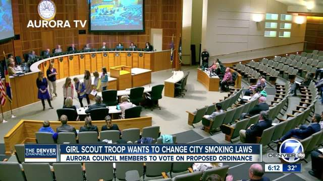 Girl Scouts hope to change Aurora smoking laws- city council votes on…