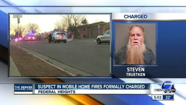 Suspect in Federal Heights mobile home fires formally charged with…