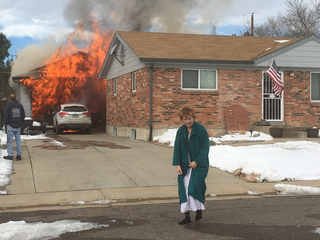 Northglenn homeowner escapes as garage ignites
