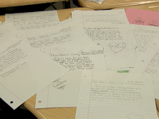 Kids write condolence letters to department