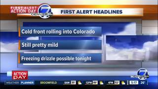 First Alert Action Day: Cold front hits Colorado