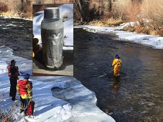 Suspect, no motive in bottles found in river